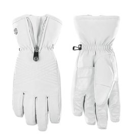 Stretch ski gloves white