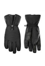 Stretch ski gloves black