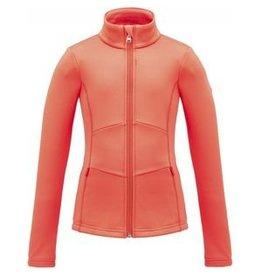 Poivre Blanc Stretch Fleece Jacket Scarlet Red