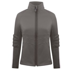 Poivre Blanc Stretch Fleece Jacket Khaki Grey