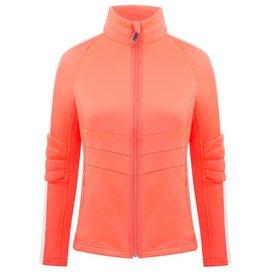 Poivre Blanc Stretch Fleece Jacket Nectar Orange