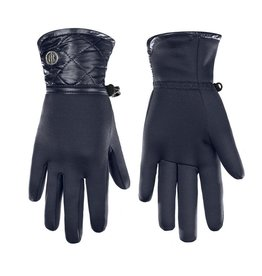 Poivre Blanc Stretch Fleece Gloves Gothic Blue