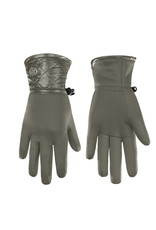 Poivre Blanc Stretch Fleece Gloves Khaki Grey