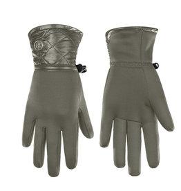 Stretch Fleece Gloves Khaki Grey