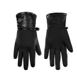 Poivre Blanc Stretch Fleece Gloves Black