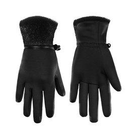 Poivre Blanc Stretch Fleece Gloves Bubbly Black