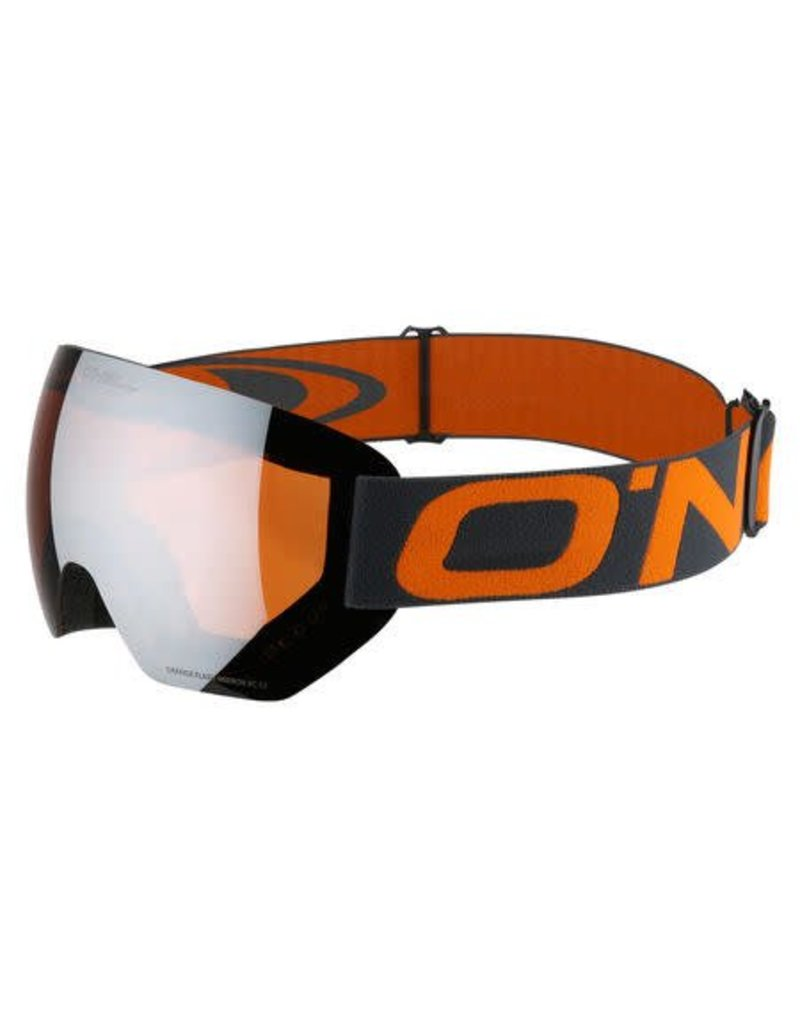 Oneill Pro Snow Goggles Asphalt Orange Frameless