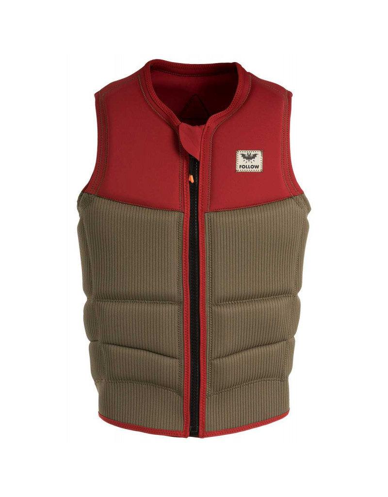Follow Mitch Pro Impact Vest Dusty Red Mens