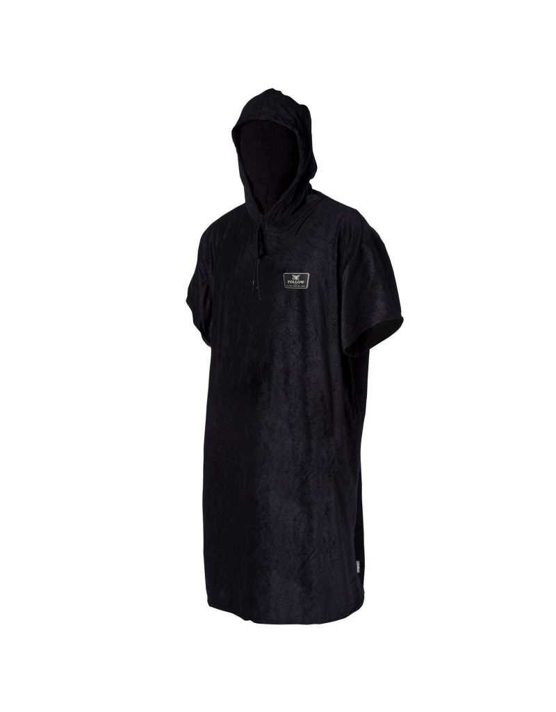Follow Hooded Towelie Poncho