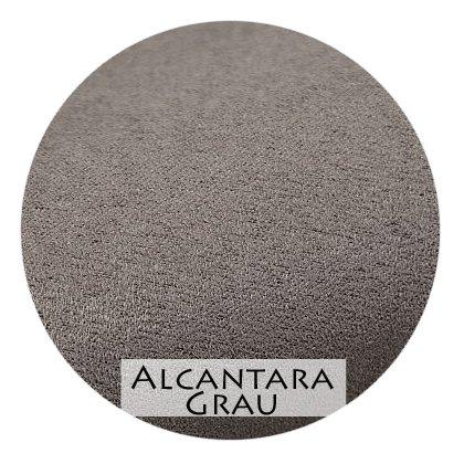 Stoffmuster Alcantara Grau