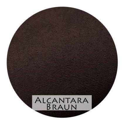 Stoffmuster Alcantara Braun