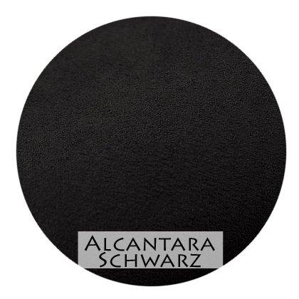 Stoffmuster Alcantara Schwarz