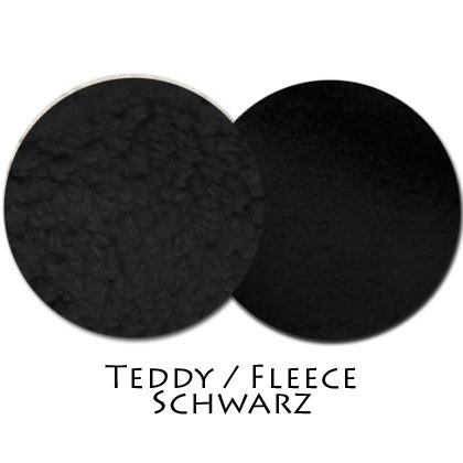 Stoffmuster Teddy/Fleece Schwarz