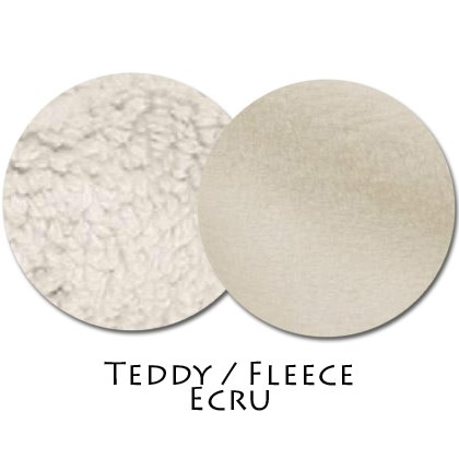 Stoffmuster Teddy/Fleece Ecru