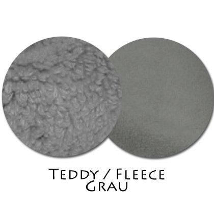 Stoffmuster Teddy/Fleece Grau