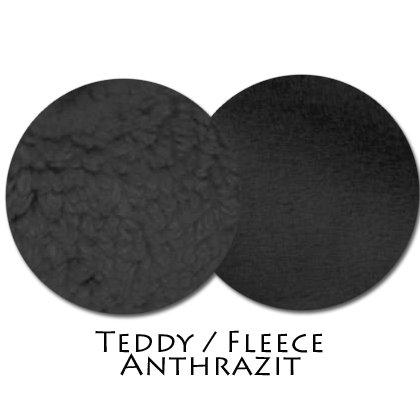 Stoffmuster Teddy/Fleece Anthrazit