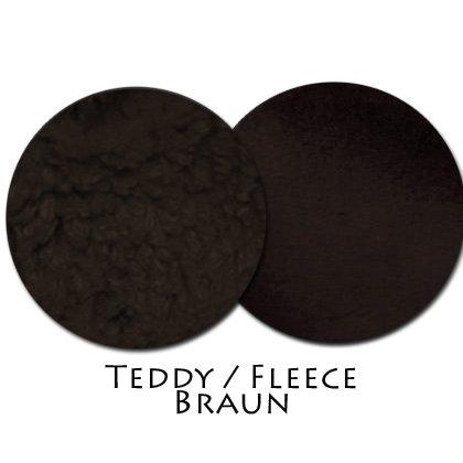 Stoffmuster Teddy/Fleece Braun