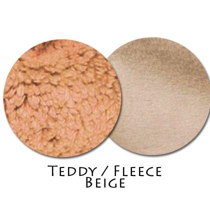 Stoffmuster Teddy/Fleece Beige