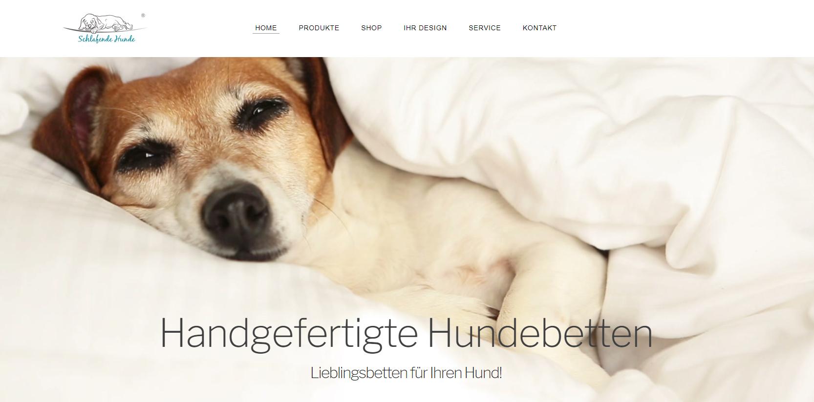 Website Schlafende Hunde Hundebetten