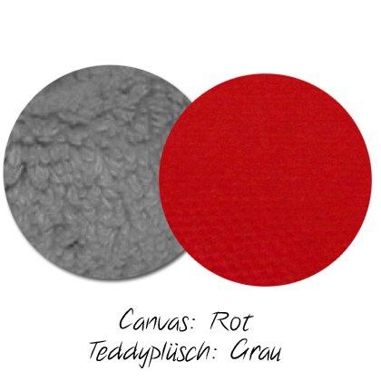 Kuschel-Wendedecke Rot