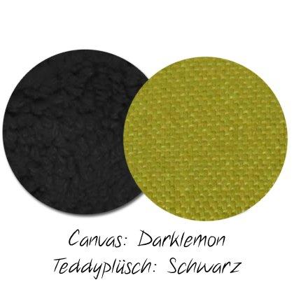 Kuschel-Wendedecke Darklemon