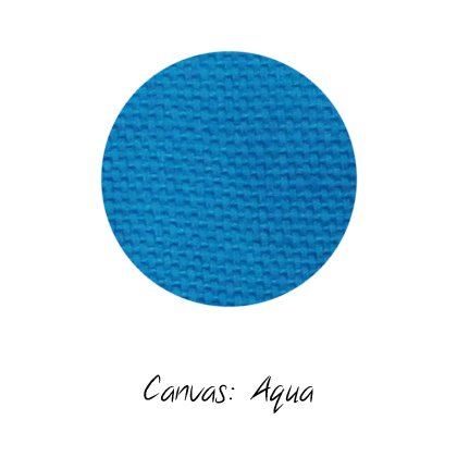Stoffmuster Canvas Aqua