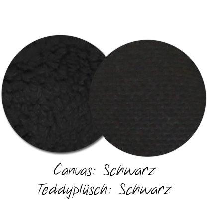 Kuschel-Wendedecke Schwarz