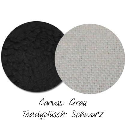 Kuschel-Wendedecke Grau