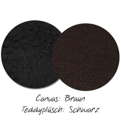 Kuschel-Wendedecke Braun