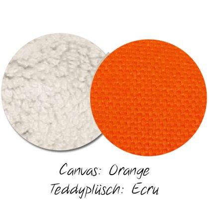 Kuschel-Wendedecke Orange