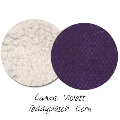 Kuschel-Wendedecke Violett