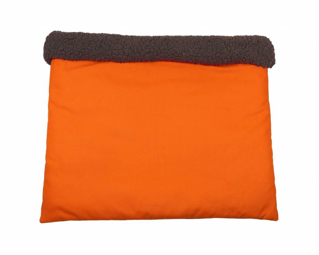 Hunde Kuschel-Schlafsack Orange, uni