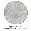 Stoffmuster Fellimitat Weiss-grau meliert