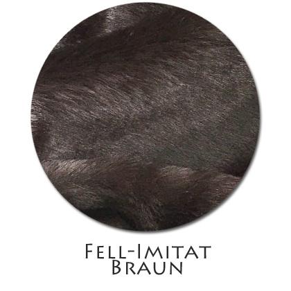 Stoffmuster Fellimitat Braun