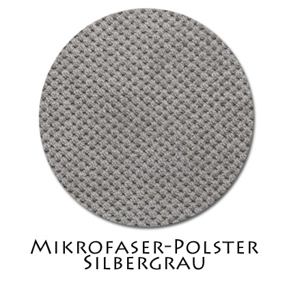 Stoffmuster Polsterstoff Silbergrau