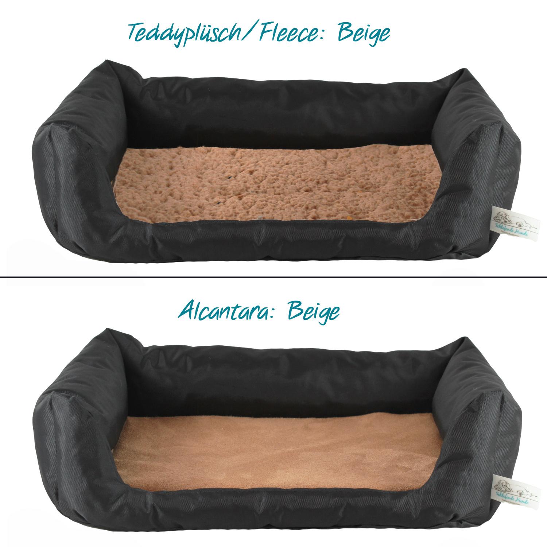 Handgefertigtes Hundebett Schwarz