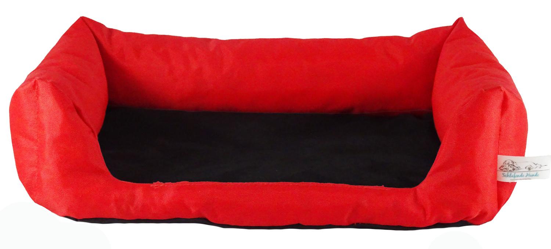 Handgefertigtes Hundebett Rot