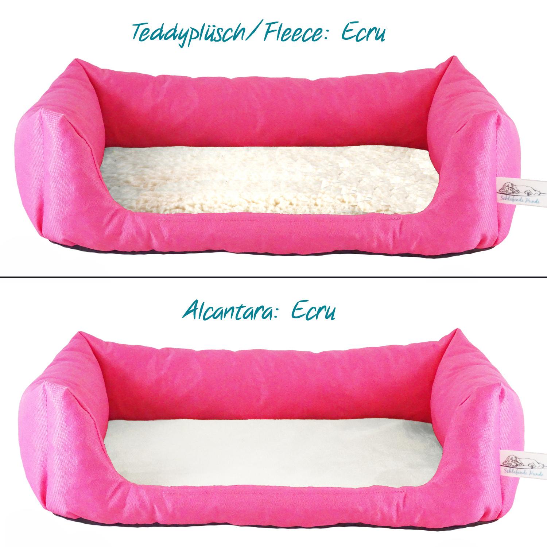 Handgefertigtes Hundebett Pink