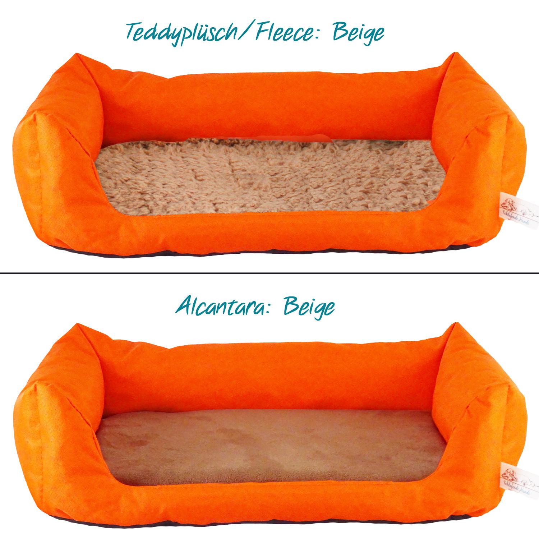 Handgefertigtes Hundebett Orange