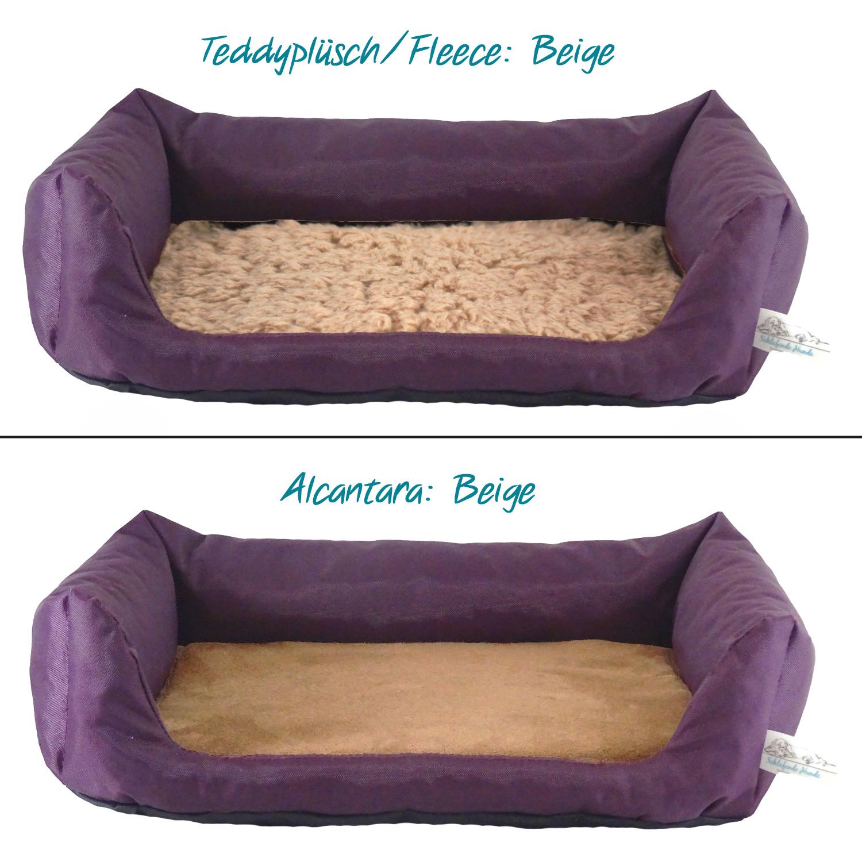 Handgefertigtes Hundebett Aubergine
