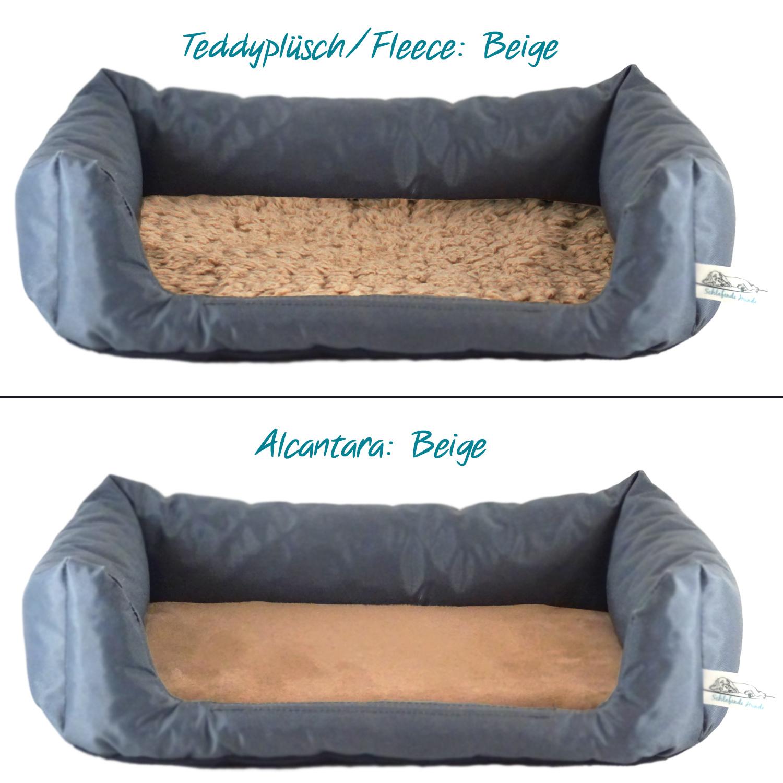 Handgefertigtes Inkontinenz-Hundebett Anthrazit
