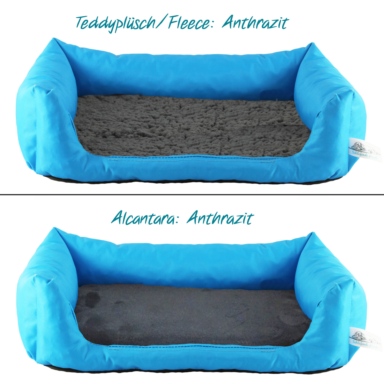 Handgefertigtes Inkontinenz-Hundebett Aqua