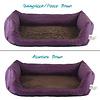 Handgefertigtes Inkontinenz-Hundebett Aubergine