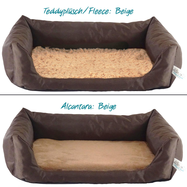Handgefertigtes Inkontinenz-Hundebett Braun