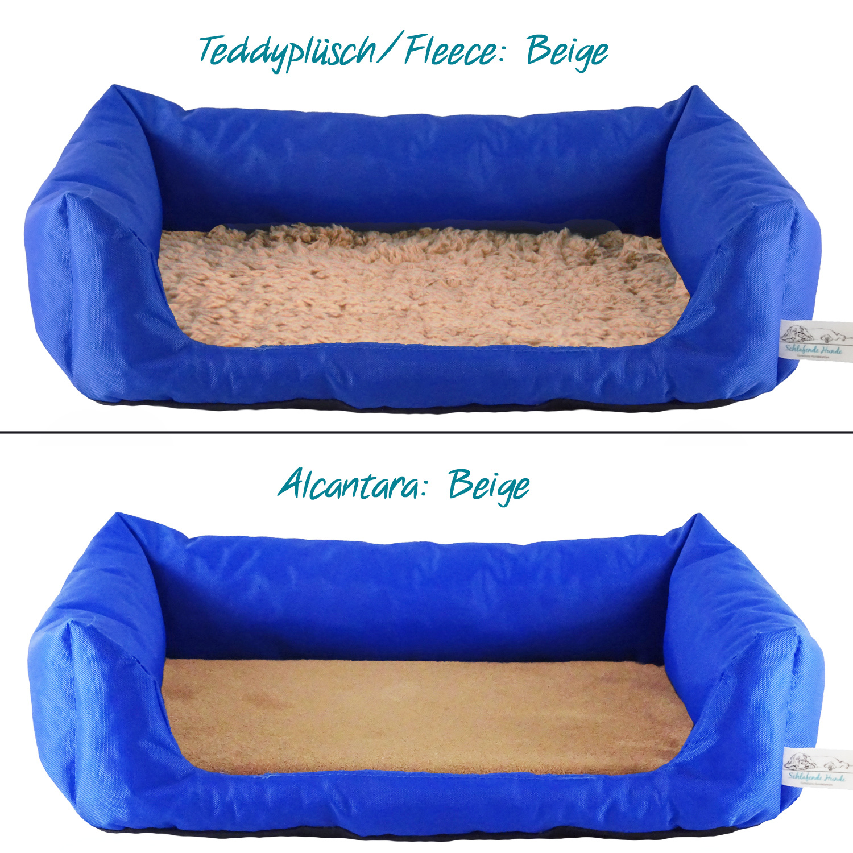 Handgefertigtes Inkontinenz-Hundebett Kobalt