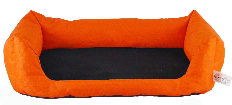 Handgefertigtes Inkontinenz-Hundebett Orange