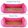Handgefertigtes Inkontinenz-Hundebett Pink
