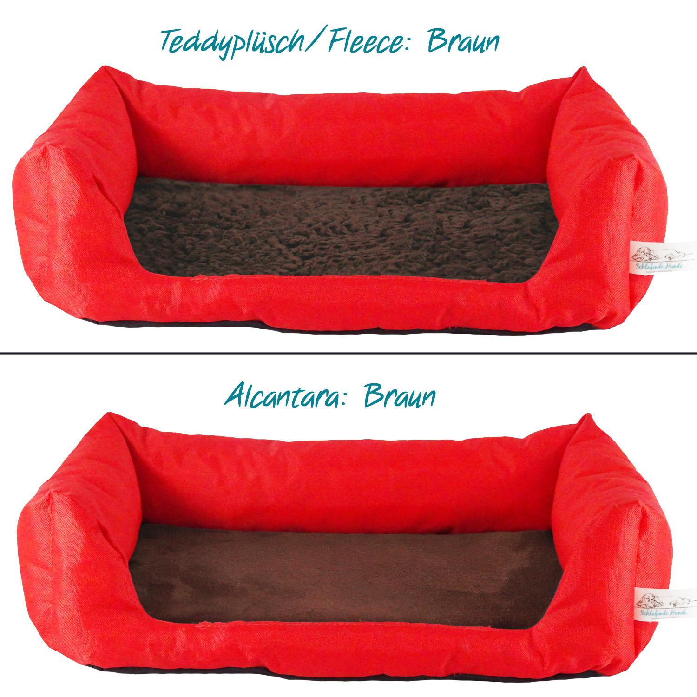 Handgefertigtes Inkontinenz-Hundebett Rot