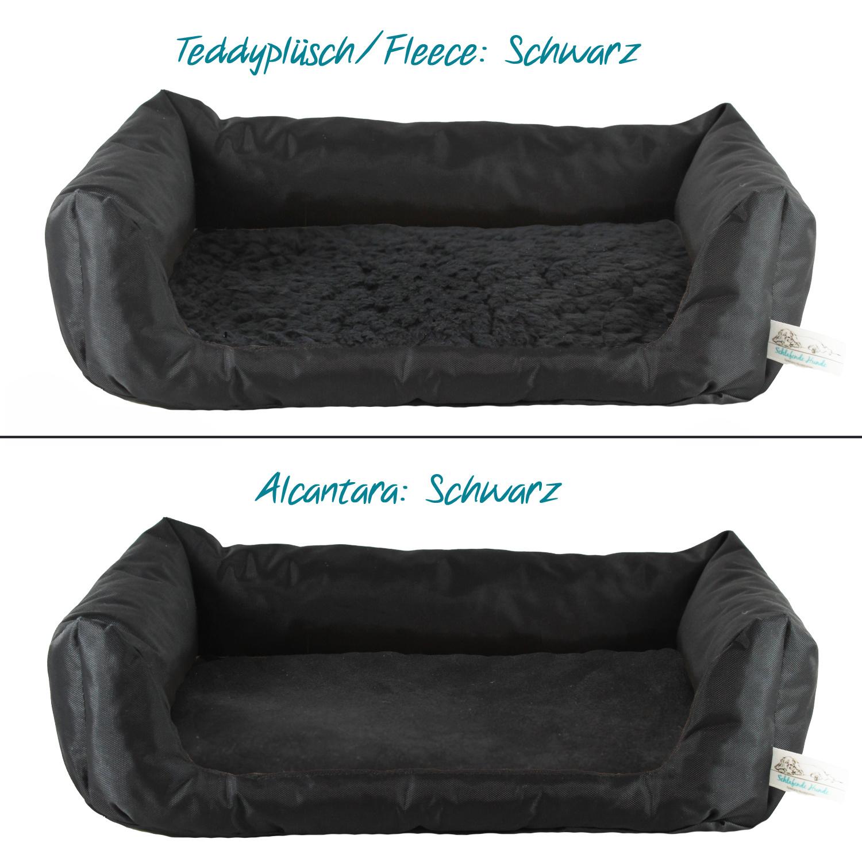Handgefertigtes Inkontinenz-Hundebett Schwarz