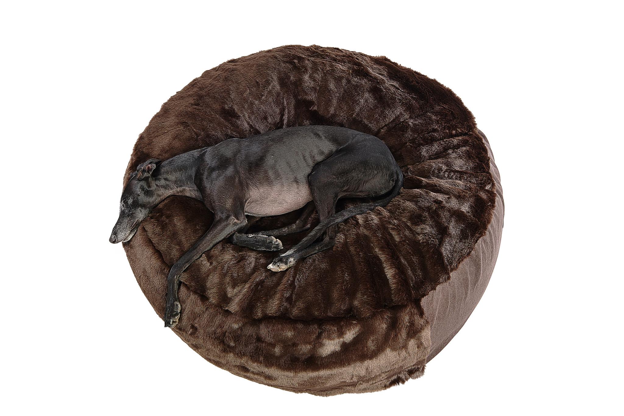 Hundebett Pouf - Fell Braun